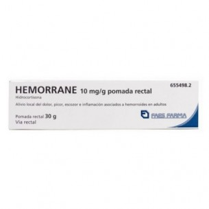 HEMORRANE 10 MG/G POMADA RECTAL 30 G