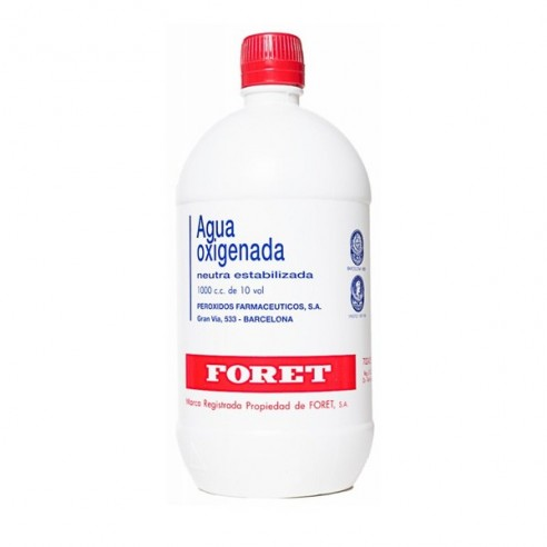 AGUA OXIGENADA NEUTRA ESTABILIZADA FORET 30 MG/ML SOLUCION TOPICA 1000 ML