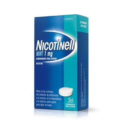 NICOTINELL MINT 1 MG 36 COMPRIMIDOS PARA CHUPAR