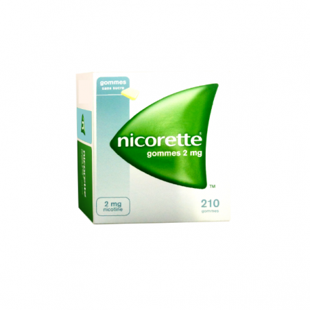 NICORETTE 2 MG 210 CHICLES