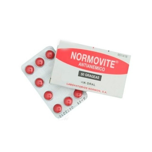 NORMOVITE ANTIANEMICO 50 GRAGEAS