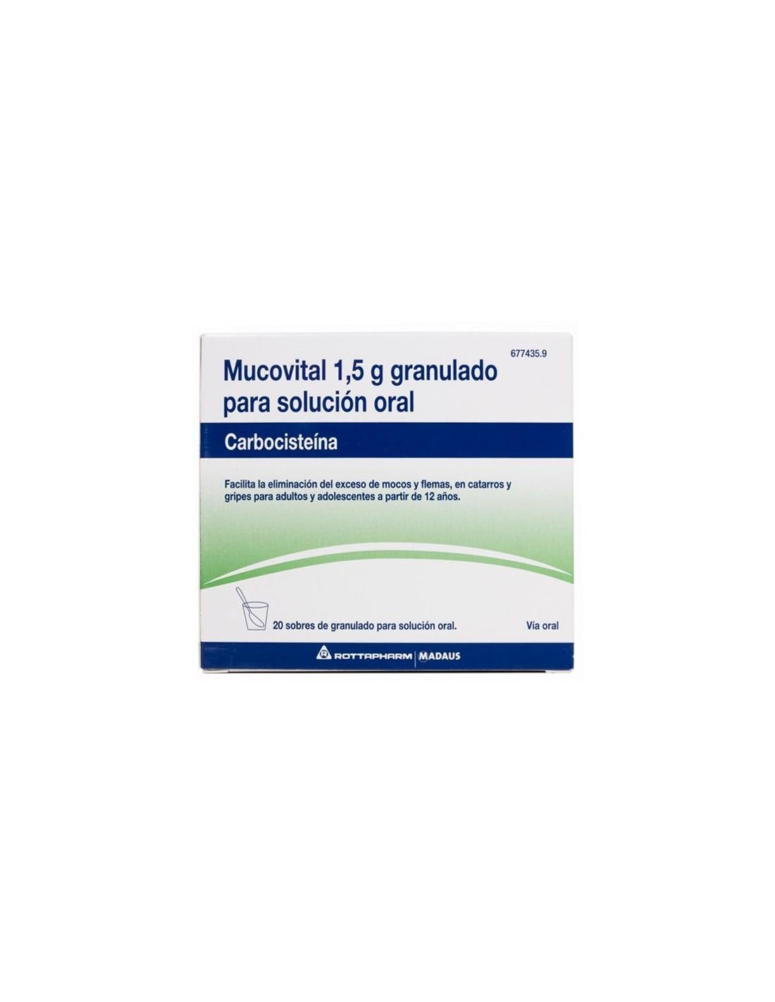MUCOVITAL 2.7 G 20 SOBRES GRANULADO