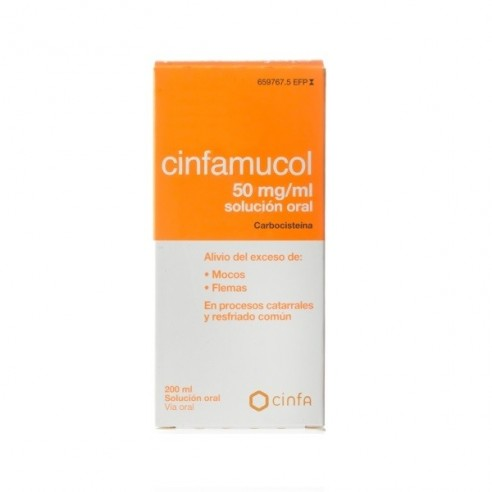 CINFAMUCOL CARBOCISTEINA 50 MG/ML SOLUCION ORAL 200 ML