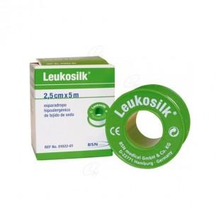 ESPARADRAPO HIPOALERGICO LEUKOSILK 5 X 2,5 CM 12 U