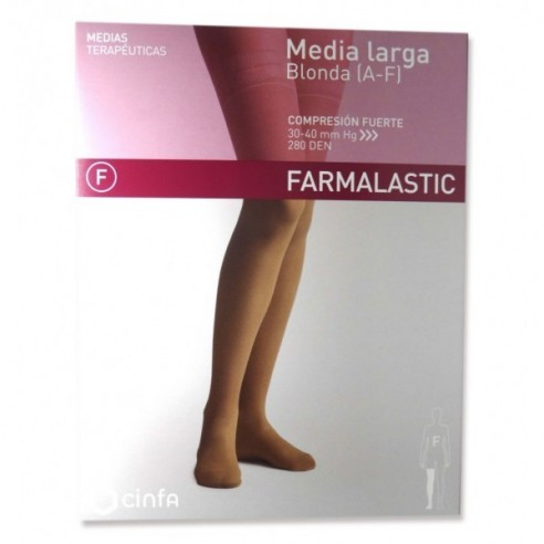 MEDIA LARGA (A-F) COMP NORMAL FARMALASTIC BLONDA BEIGE T- MED