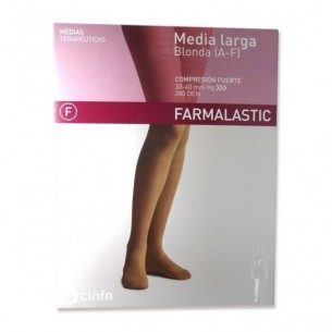 MEDIA LARGA (A-F) COMP NORMAL FARMALASTIC BLONDA CAPUCHINO T- MED