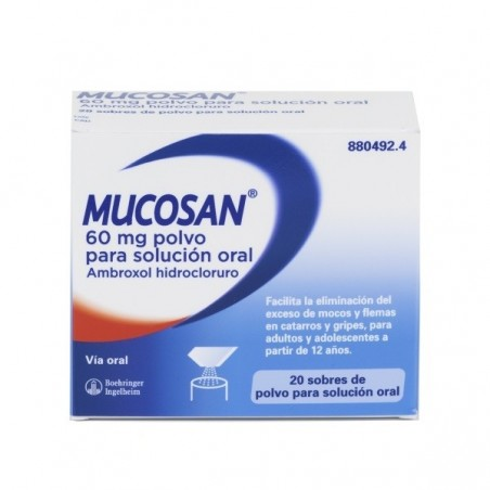 MUCOSAN 60 MG 20 SOBRES POLVO PARA SOL ORAL