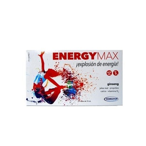 ENERGY MAX  10 ML 20 VIALES HOMEOSOR