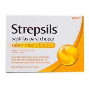 STREPSILS 24 PASTILLAS PARA CHUPAR MIEL-LIMON