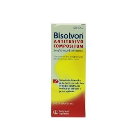 BISOLVON ANTITUSIVO COMPOSITUM 3/1.5 MG/ML SOLUCION ORAL 200 ML