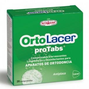ORTOLACER PROTABS COMP LIMPIADOR Y DESINFECT APARATO DE ORTODONCIA 20 COMPRIMIDOS