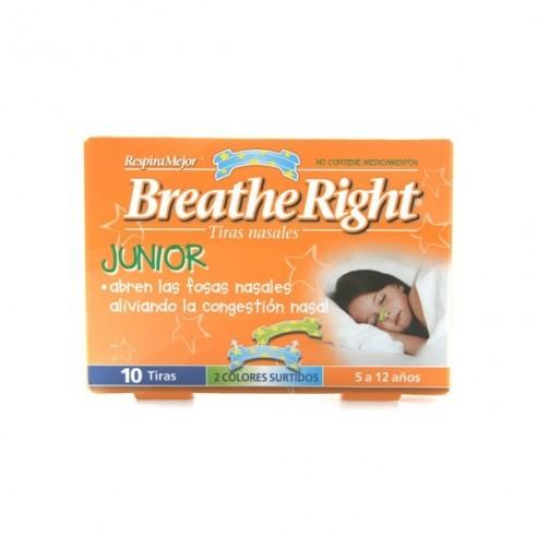 BREATHE RIGHT RESPIRA MEJOR TIRA ADH NASAL NIÑOS 10 U