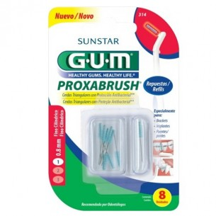 CEPILLO INTERDENTAL RECAMBIO GUM 424 PROXABRUSH CLICK 1.1 CONICO ULTRAFINO 6 U