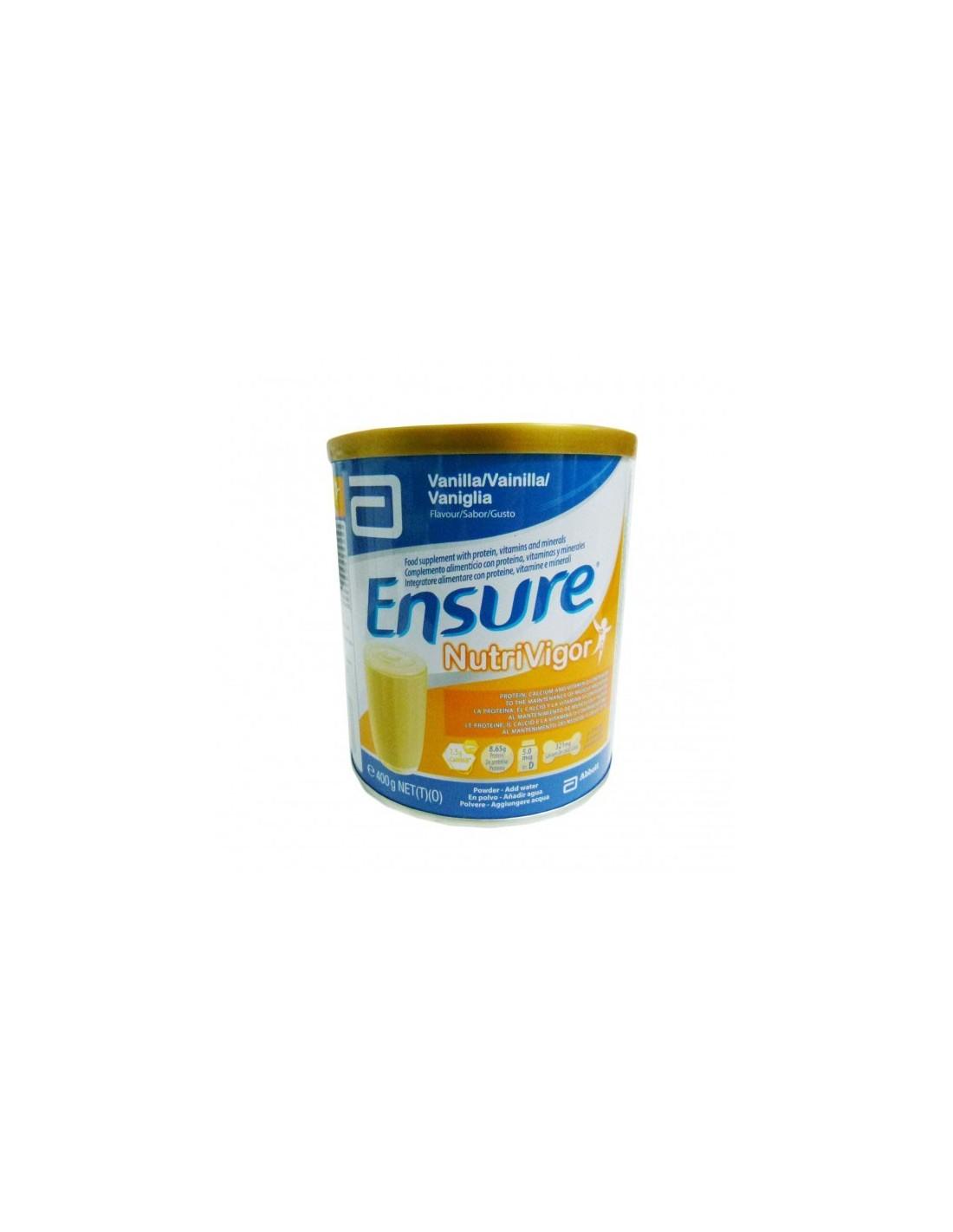 ENSURE NUTRIVIGOR  400 G LATA VAINILLA