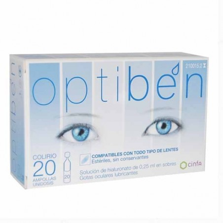 OPTIBEN OJOS SECOS GOTAS UNIDOSIS SEQUEDAD OCULAR 0.25 ML 20 AMP