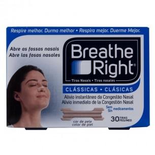 BREATHE RIGHT TIRA ADH NASAL COLOR T- PEQ-MED 30 U