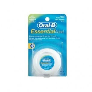 ORAL-B ESSENTIAL FLOSS FLUOR SEDA DENTAL CON CERA MENTA 50 M