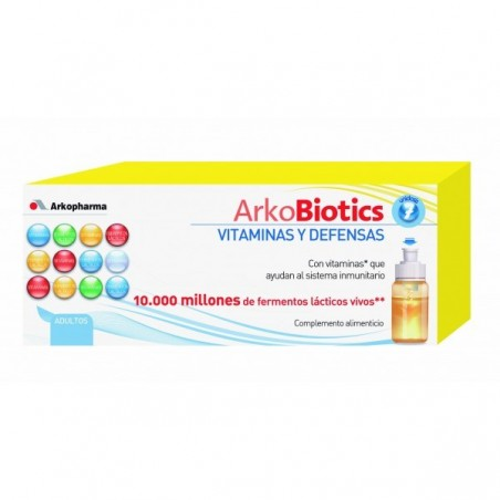 ARKOBIOTICS VITAMINAS Y DEFENSAS  ADULTOS 7 UNIDOSIS