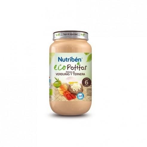 NUTRIBEN ECO DELICIAS DE VERDURA CON TERNERA  POTITO GRANDOTE 250 G