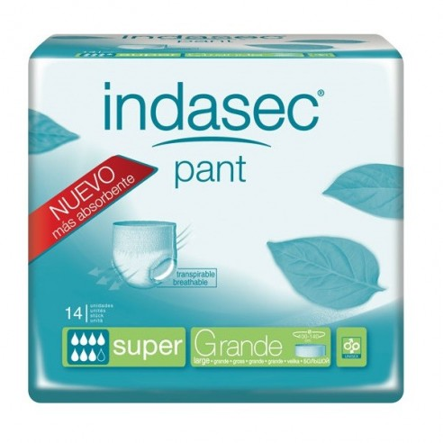 INDASEC PANT SUPER ABSORB INC ORINA DIA ANAT  T- L 10 ABSORB