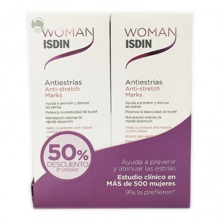 WOMAN ISDIN ANTIESTRIAS 250ML+250ML