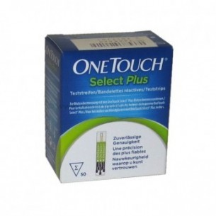 TIRAS REACTIVAS GLUCEMIA ONETOUCH SELECT PLUS 1 VIAL 50 U