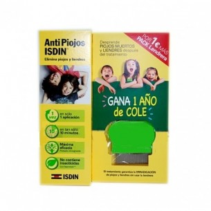 ANTIPIOJOS PACK GEL PEDICULICIDA CON LENDRERA PEDICULICIDA ISDIN