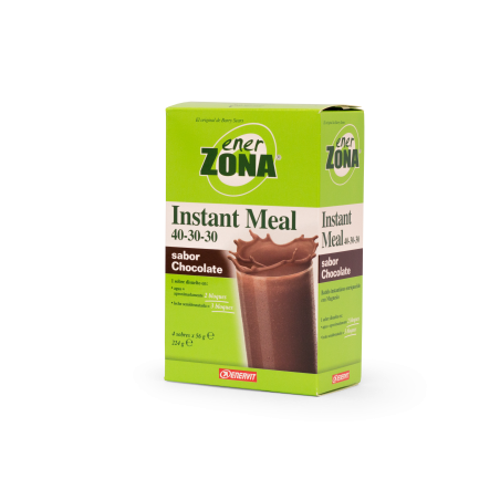 ENERZONA 40-30-30 INSTANT MEAL  CHOCOLATE 4 SOBRES