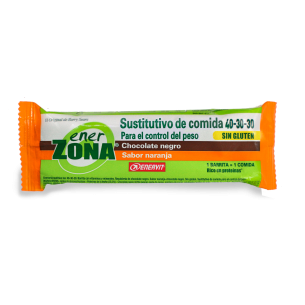 ENERZONA 40-30-30 MEAL BAR CHOCOLATE FUNDIDO  NARANJA  1 BARRITA
