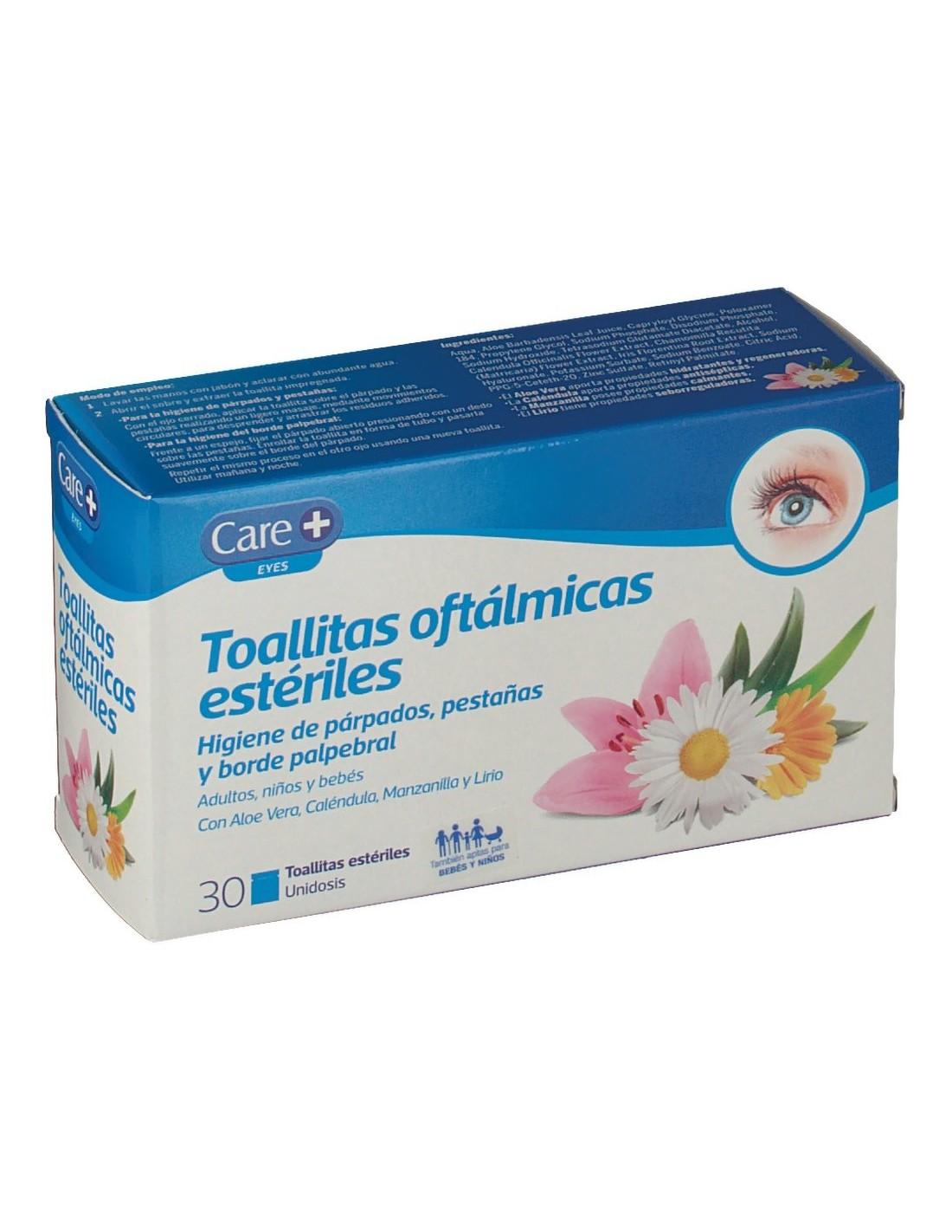 CARE+ TOALLITAS OFTALMICAS ESTERILES  30 TOALLITAS