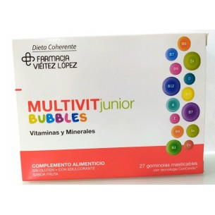 MULTIVIT JUNIOR BUBLES 27 GOMINOLAS MASTICABLES FARMACIA VIEITEZ