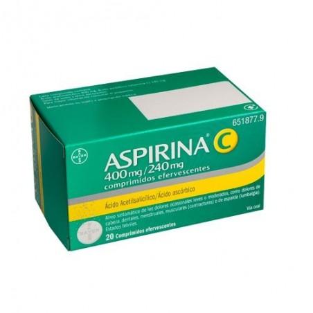 ASPIRINA C 400/240 MG 20 COMP. EFERVESCENTES