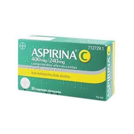 ASPIRINA C 400/240 MG 10 COMP. EFERVESCENTES